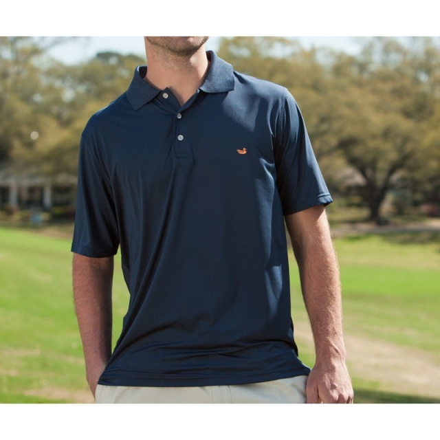 Southern Marsh - Mens Bermuda Performance Polo - New Navy Medium