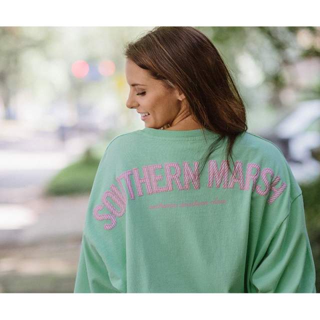 Southern Marsh - Womens Rebecca Jersey - New Bimini Green With Pink