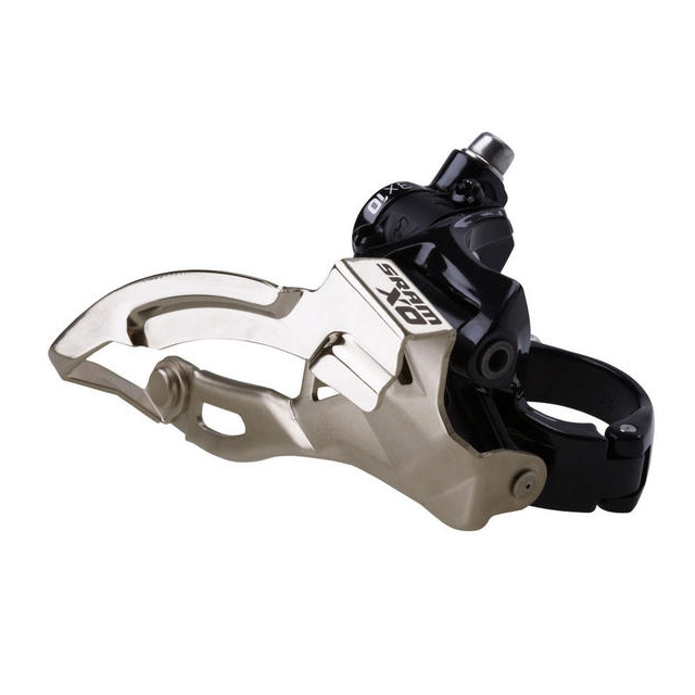 SRAM - X0 2x10 Front Derailleur<br>(High-clamp, Bottom-pull, 39T Max)