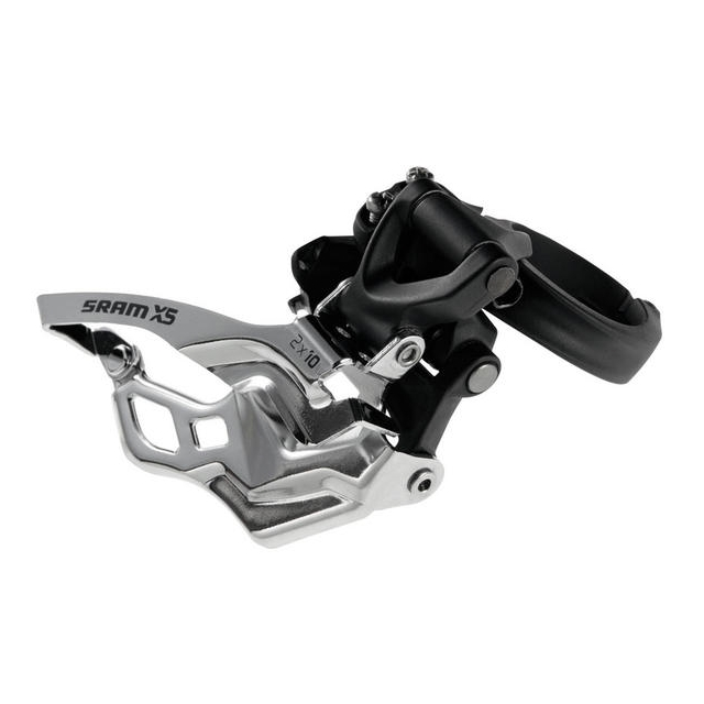 SRAM - X5 2x10 Front Derailleur<br>(High-clamp, Bottom-pull)