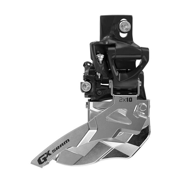 SRAM - GX 2x10 Front Derailleur<br>(High Direct-mount, Top-pull)