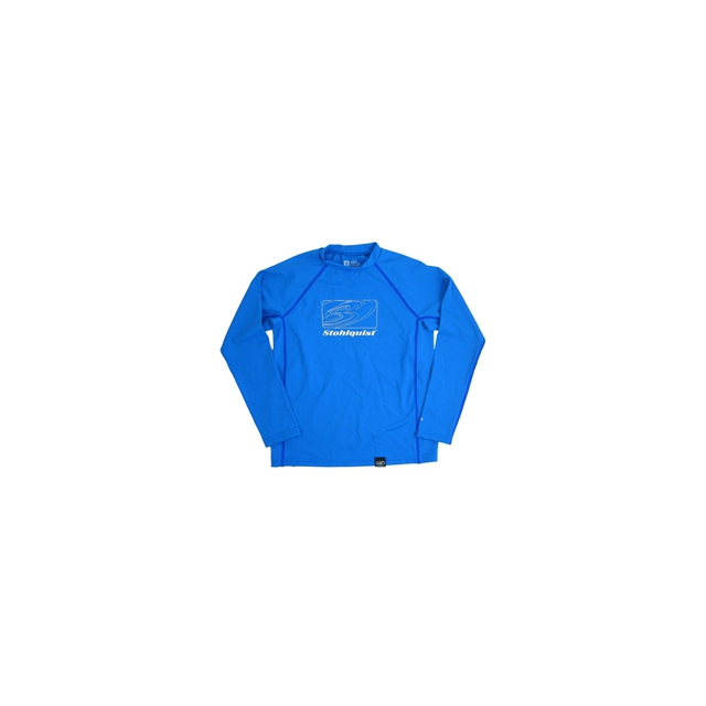 Stohlquist - Loose Fit Long Sleeve Rashguard for Kid's - Vivid Blue In Size