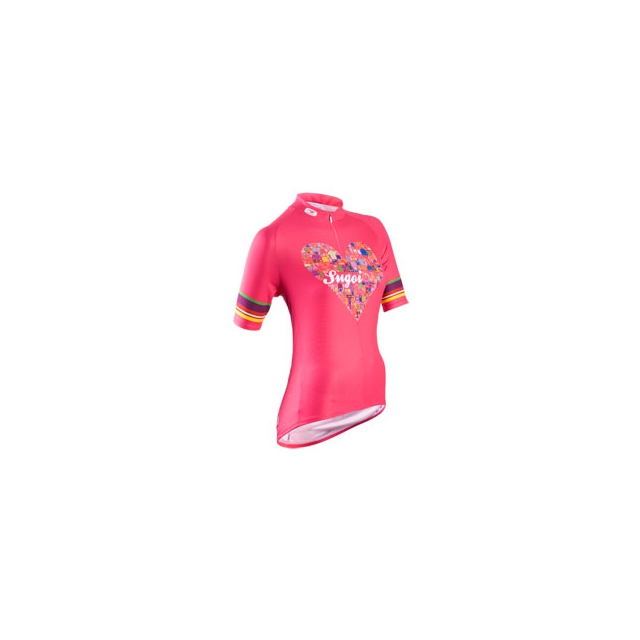Sugoi - I Heart My Bike Cycling Jersey - Women's - Bright Rose In Size: Small