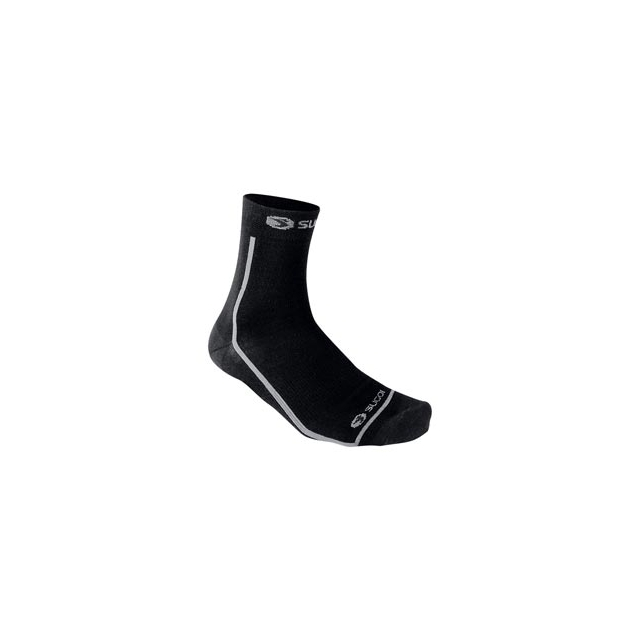 Sugoi - Wallaroo 1/4 Wool Sock - Black In Size: Small