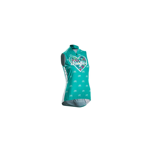 Sugoi - I Heart My Bike Jersey - Women's - Light Jade In Size