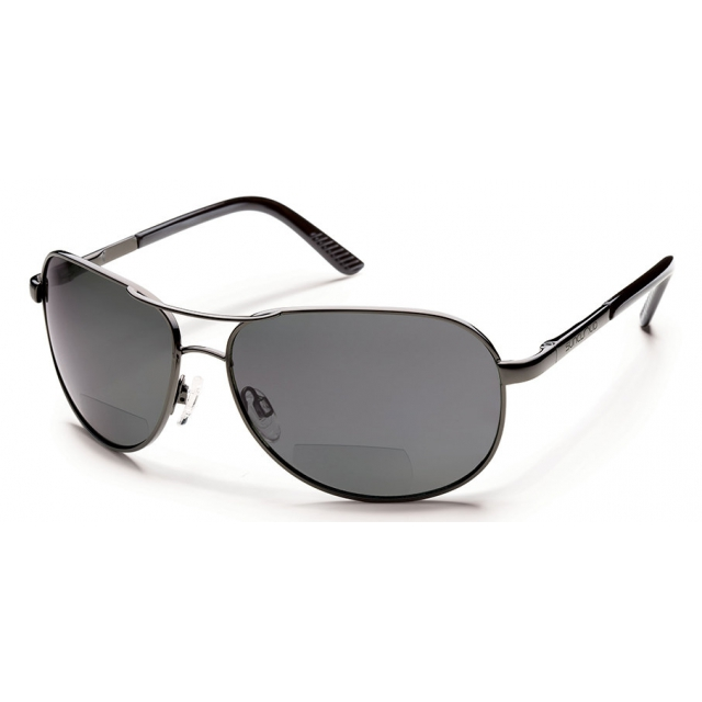 Suncloud - Aviator +2.00 - Gray Polarized Polycarbonate