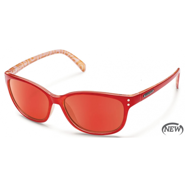 Suncloud - Flutter  - Red Mirror Polarized Polycarbonate