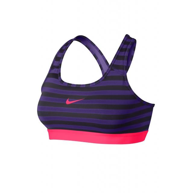 Nike - Women's W Pro Classic Stripe Bra - 629154-547 XS