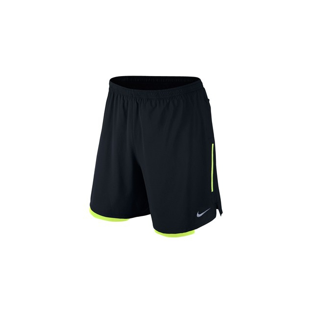 Nike - Nike Phenom 2-in-1 7in Shorts - Men's-Black-M