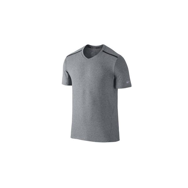 Nike - Nike Tailwind V-neck Shirt - Men's-Anthracite/Black-M