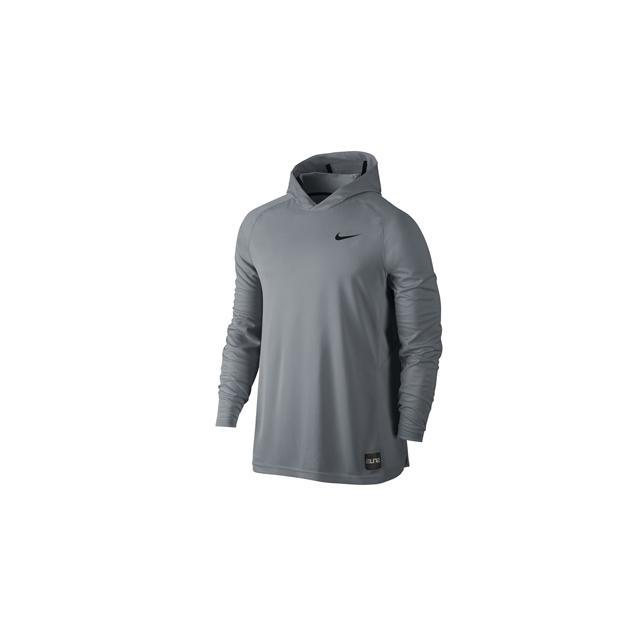 Nike - Nike LS Hoodie - Men's-Grey-M