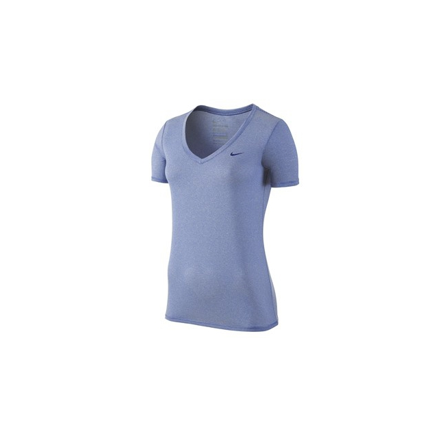 Nike - Nike Stripe V-neck Shirt - Women's-Wolf Grey-S