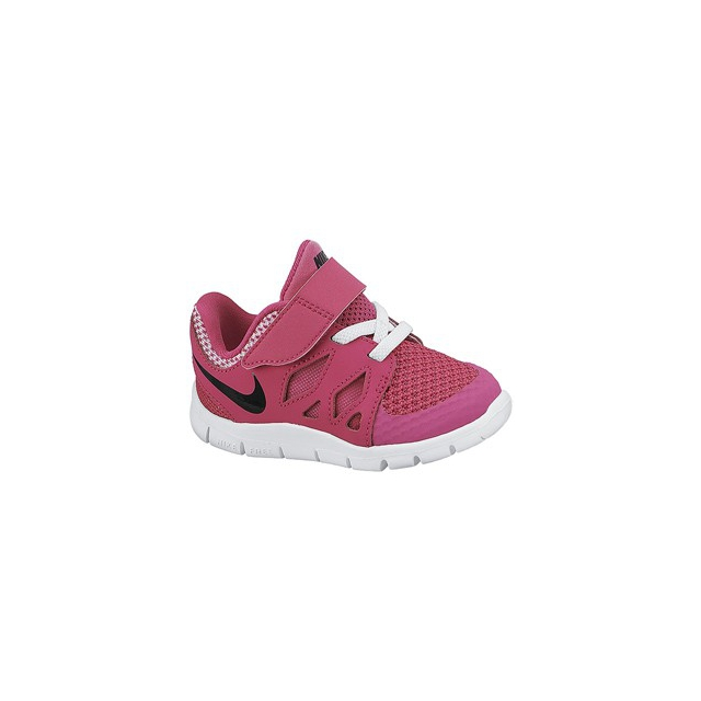 Nike - Free 5.0 - Toddler Girls-Hot Pink/Black/White-5