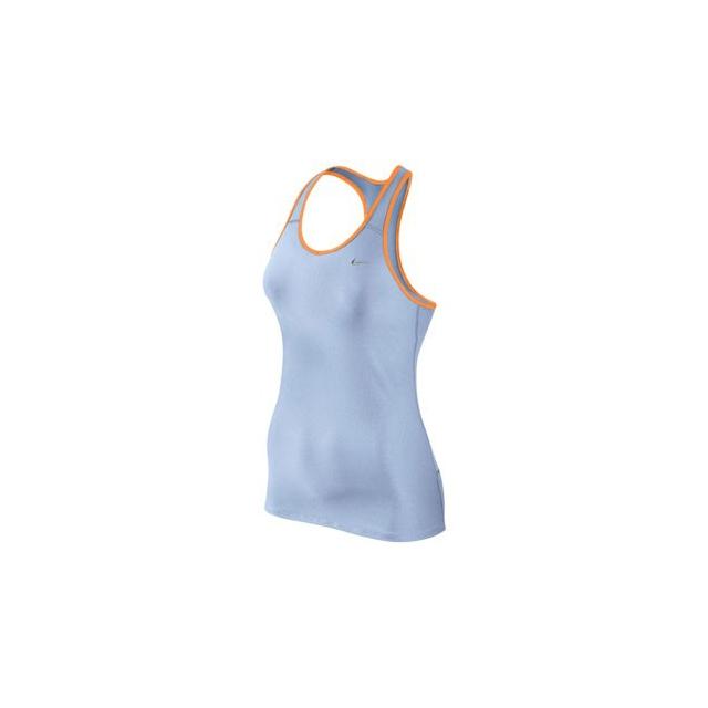 Nike - Shaping Long Bra - Women's-Ice Blue/Bright Citrus-XS