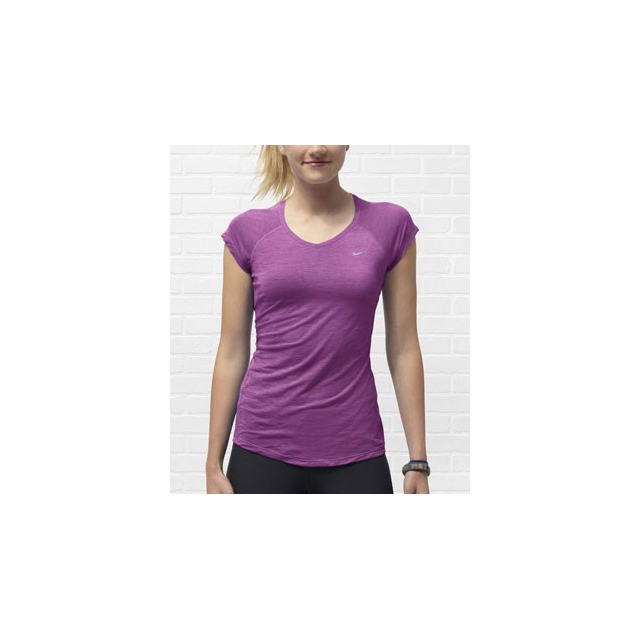 Nike - Dri-FIT Touch Breeze Short Sleeve Top - Women's-L