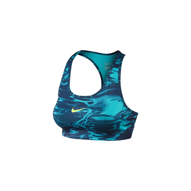 Nike - Pro Pool Bra - Women's-Obsidian/Green-L