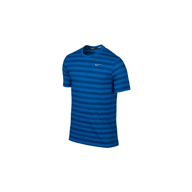 Nike - Tailwind Striped Shirt - Men's-Bluegill-L