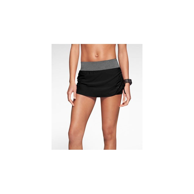 Nike - Rival Stretch Skirt - Women's-Black/Pure Platinum-L