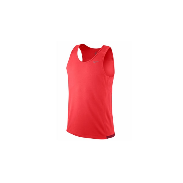 Nike - Miler Team Tank - Men's-LT Crimson-M