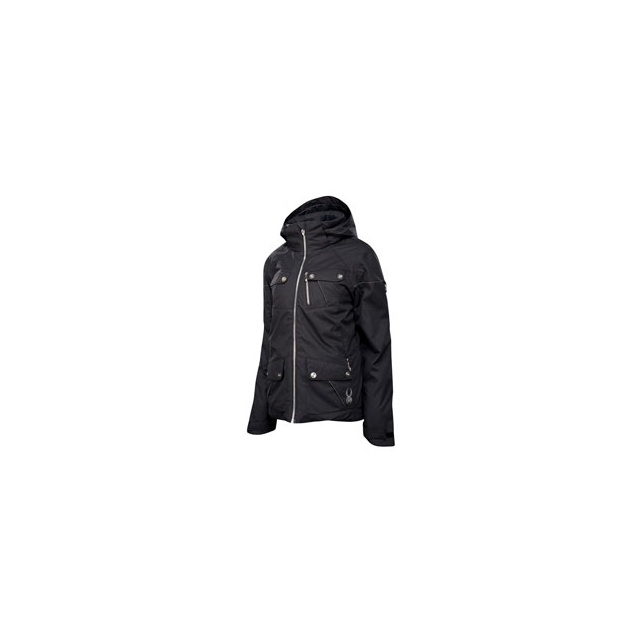 Spyder - Evar Insulated Jacket - Women's - Black Crosshatch In Size: 12