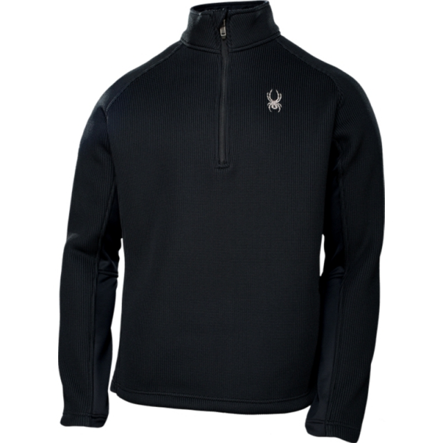Spyder - Mens Pitch Half Zip Sweater - Sale Black Medium