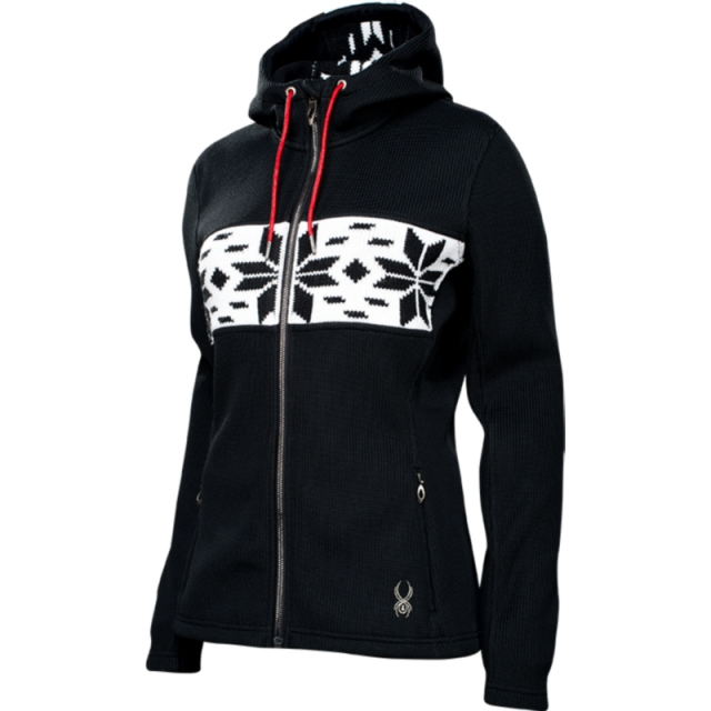 Spyder - Womens Soiree Hoody No Fur - Closeout Black Small