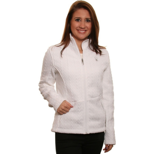 Spyder - Major Cable Core Sweater Women's, White, XL
