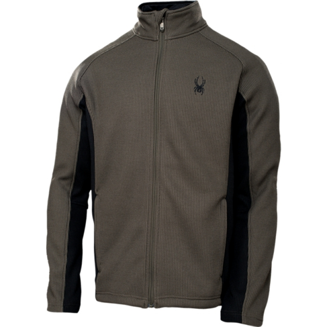 Spyder - Mens Constant Full Zip Sweater - Closeout Osetra/Black Medium
