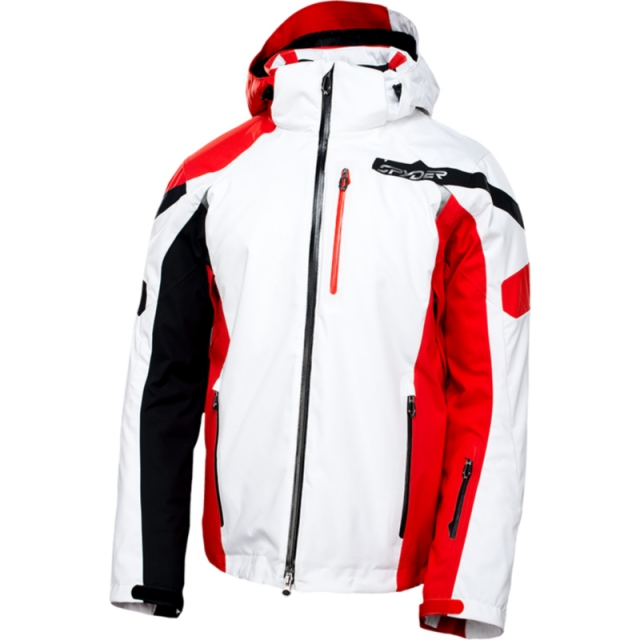 Spyder - Mens Titan Jacket - Sale White/Volcano/Black Medium
