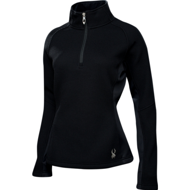 Spyder - Womens Valor Half Zip - Sale Black/Silver X Small