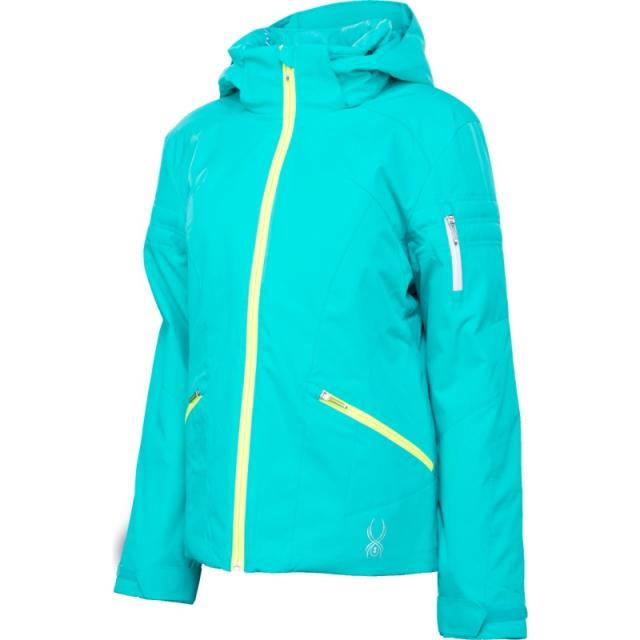 Spyder - Project Insulated Ski Jacket Women's, Riviera/Riviera Linear Emboss/Silver, 14