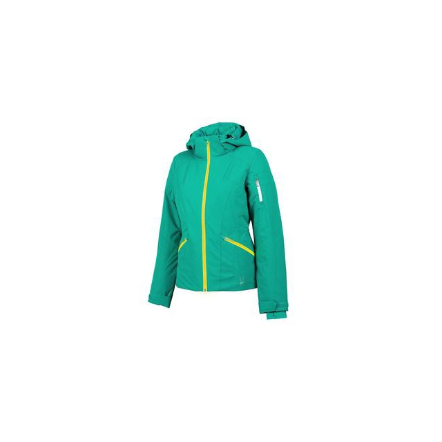 Spyder - Project Insulated Ski Jacket Women's, Robins Egg/Bryte Yellow, 12