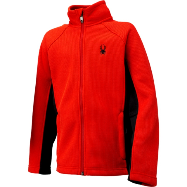 Spyder - Boys Constant Full Zip - Sale Volcano/Black Small