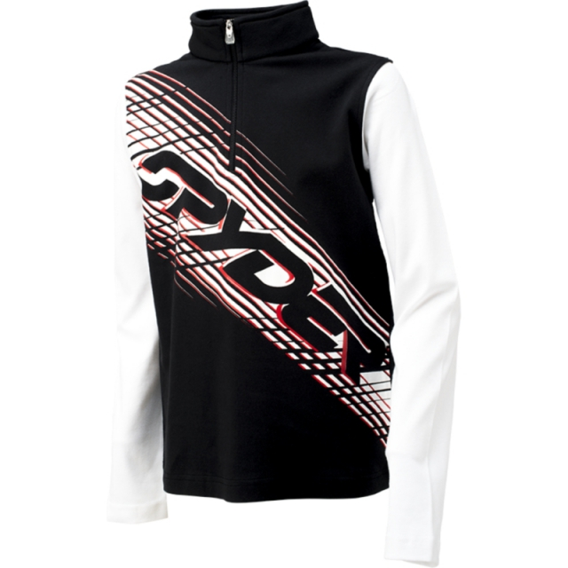 Spyder - Boys Racer - Sale Black/White/Volcano Small