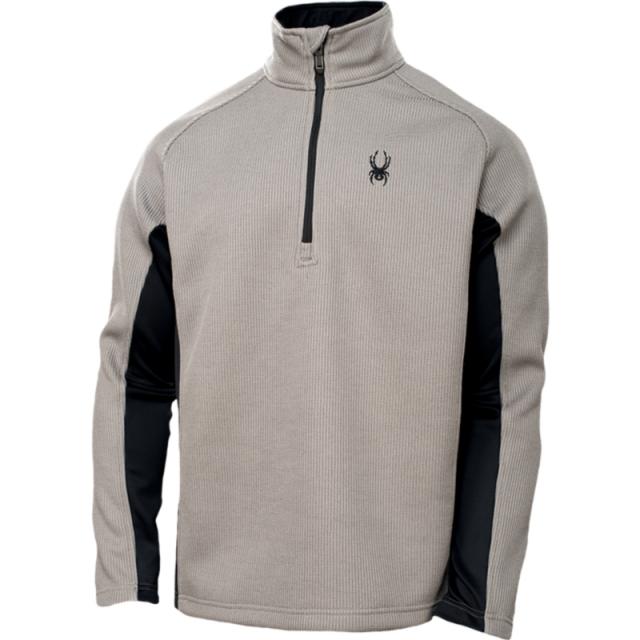 Spyder - Mens Outbound Half Zip Sweater - Sale Graystone/Black/Black