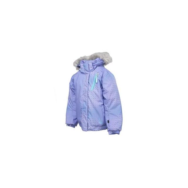 Spyder - Bitsy Lola Ski Jacket Little Girls', Pure Honeycomb Print/Splash, 3