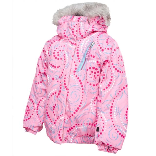 Spyder - Bitsy Lola Ski Jacket Little Girls', Chill Pinwheel Print/Pure, 3