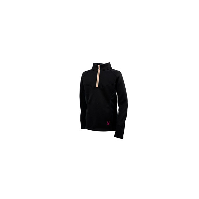 Spyder - Valor 1/2 Zip Mid Weight Core Sweater - Girls - Black In Size: Large