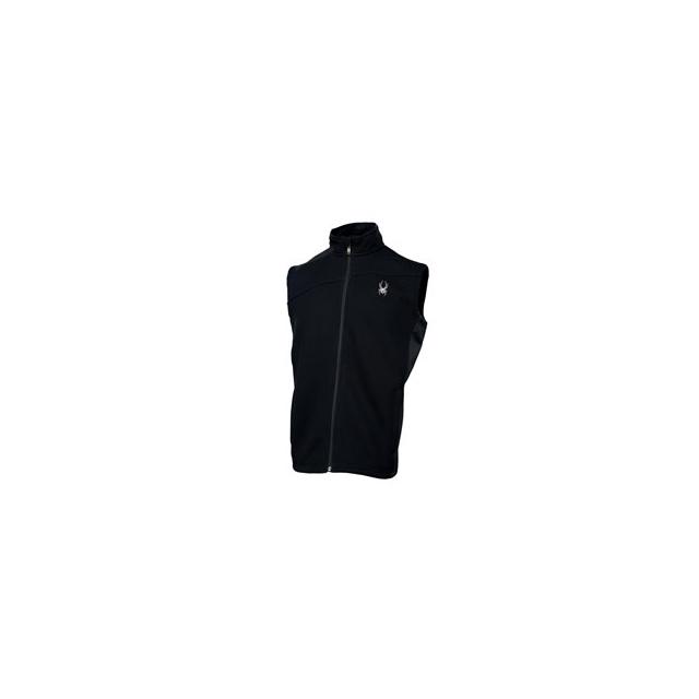 Spyder - Constant Full Zip Mid Weight Core Sweater Vest - Men's - Black In Size