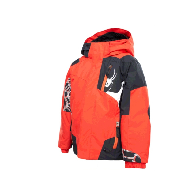 Spyder - Boys Mini Challenger Jacket - Closeout Volcano/Black/White 07