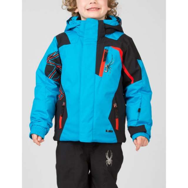 Spyder - Boys Mini Challenger Jacket - Closeout Electric Blue/Black/Volcano