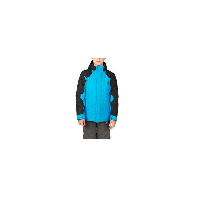 Spyder - Flyte Jacket - Boy's - Electric Blue/Black/Polar In Size