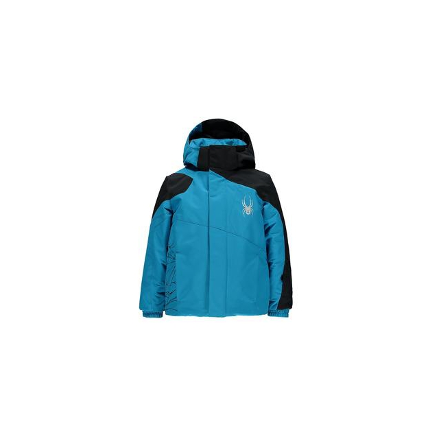 Spyder - Mini Guard Insulated Ski Jacket Little Boys', Electric Blue/Black, 4