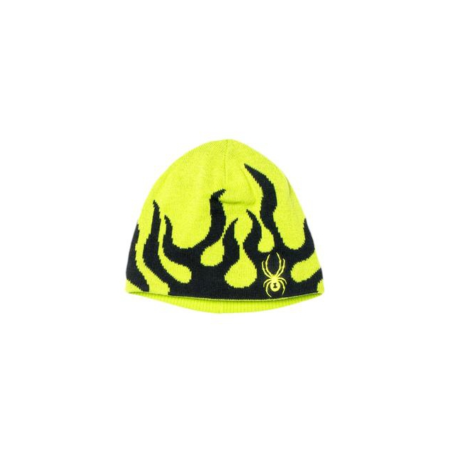 Spyder - Mini Fire Hat Little Boys', Black/Volcano,