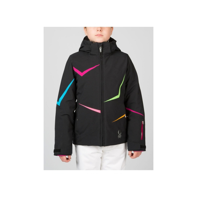 Spyder - Girls Tresh Jacket - Closeout Black/Wild/Riviera 08