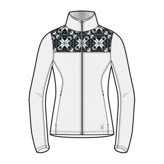 Spyder - Womens Criss Sweater - Closeout White/Black/Image Gray Large