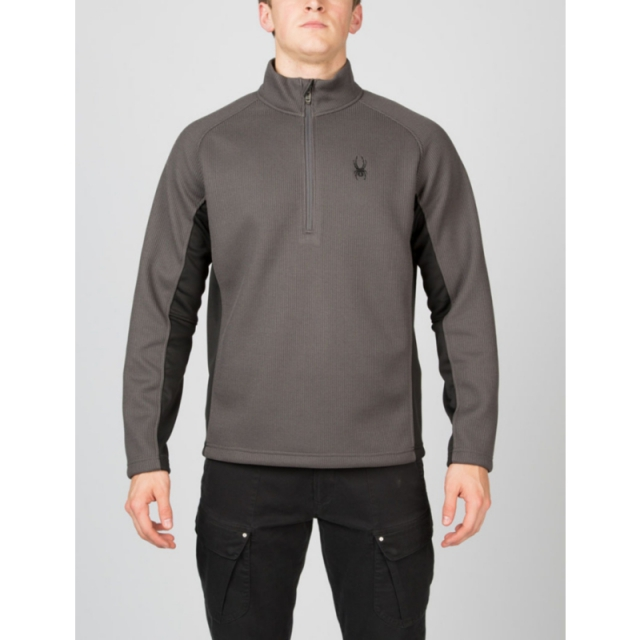 Spyder - Mens Outbound Half Zip Sweater - Sale Polar/Black/Polar Medium