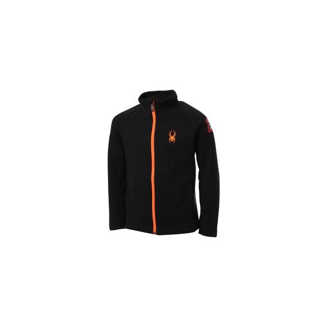 Spyder - Constant Mid-Weight Core Sweater Jacket Boys', Black/Bryte Orange, XL