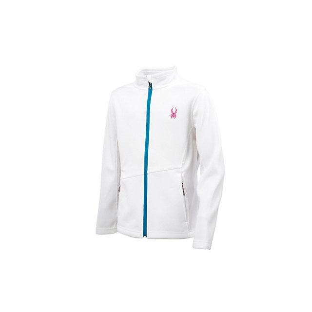 Spyder - Endure Full-Zip Mid-Weight Core Sweater Girls', White/Riviera/Girlfriend, XXL