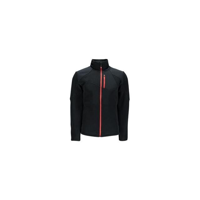 Spyder - Linear Full-Zip Mid-Weight Core Sweater Jacket Men's, Black/Volcano, L